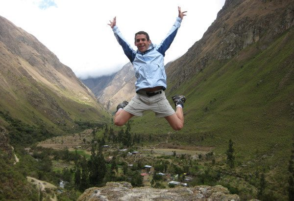Inca Trail Jumping Picture