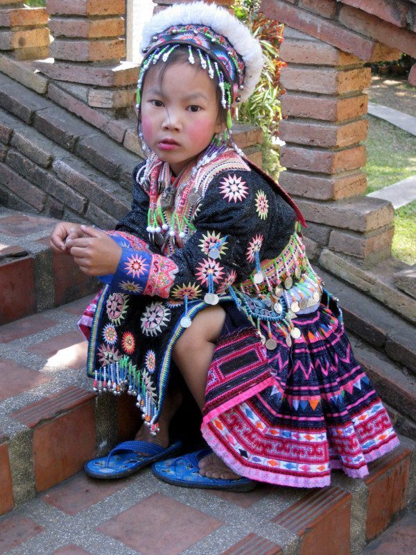 Girl dressed in traditional Hmong Clothing