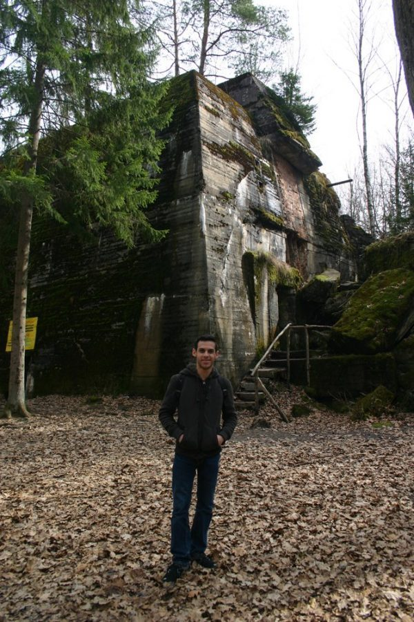 In front of Hitler's Bunker