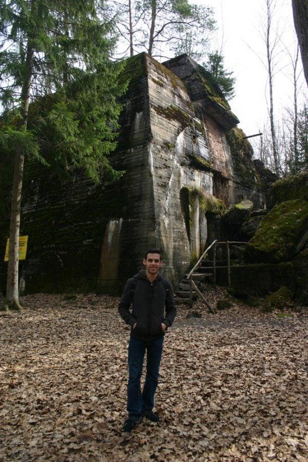 In front of Hitler's Bunker