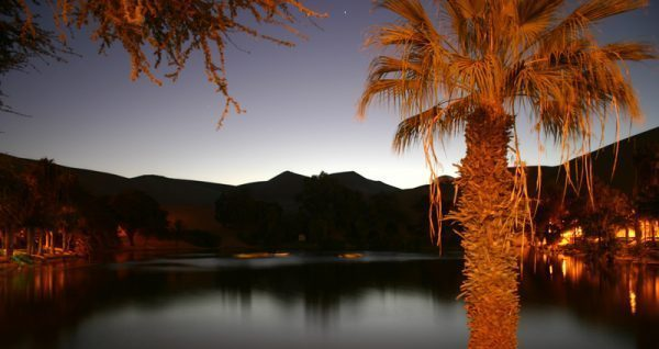 Huacachina Oasis Sunset