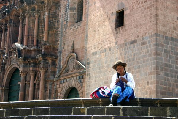 Woman Weaving in Cuzco