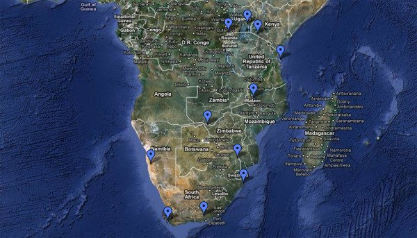 African Backpacking Trail Map