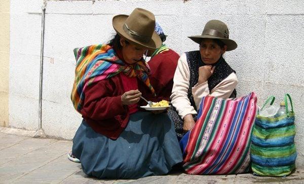 Peruvians in Cusco Peru