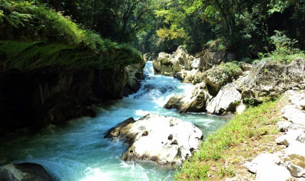 Cahabon River at Semuc Champey, Guatemala