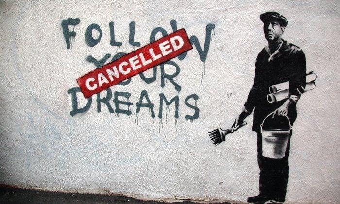 Follow your dreams street graffiti