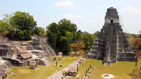 Grand Plaza and Temple I Tikal Guatemala
