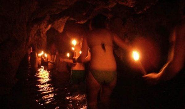 Caves in Semuc Champey, Guatemala
