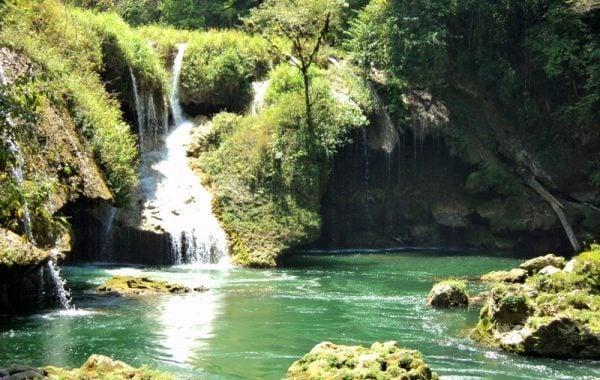 Waterfall at Semuc Champey, Guatemala