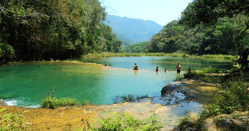 Natural pools at Semuc Champey, Guatemala