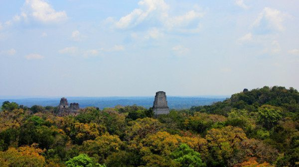 View form Temple IV Tikal Guatemala