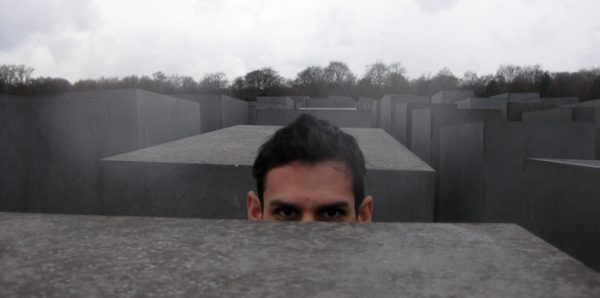 Norbert at the jewish Memorial in Berlin