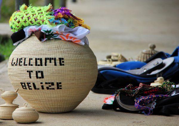 Belize weaved basket