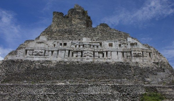 Xunantunich glyphs at El Castillo