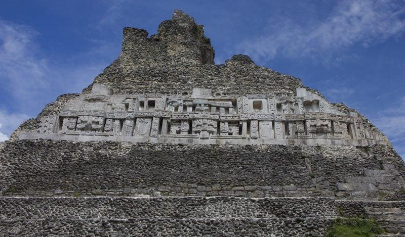 Xunantunich glyphs at El Castillo