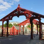 Gamle Bybro Bridge in Trondheim, Norway