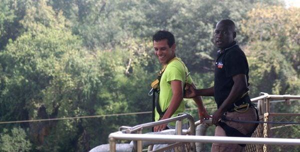 bungee at victoria falls, zambia and zimbabwe
