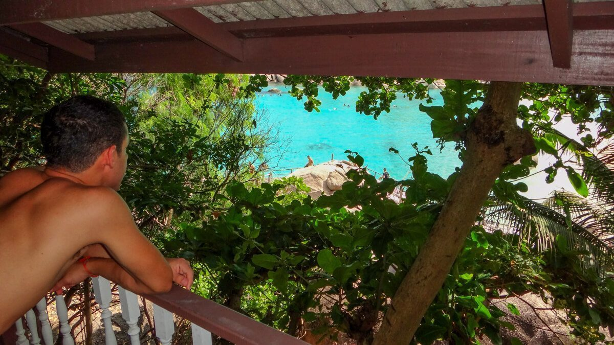 Looking from the cabin in Koh Nang Yuan