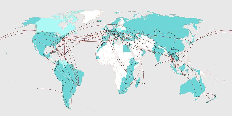 Five years around the world