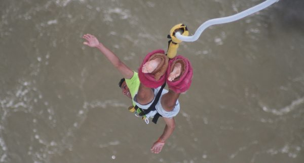 me bungee jumping at Victoria Falls