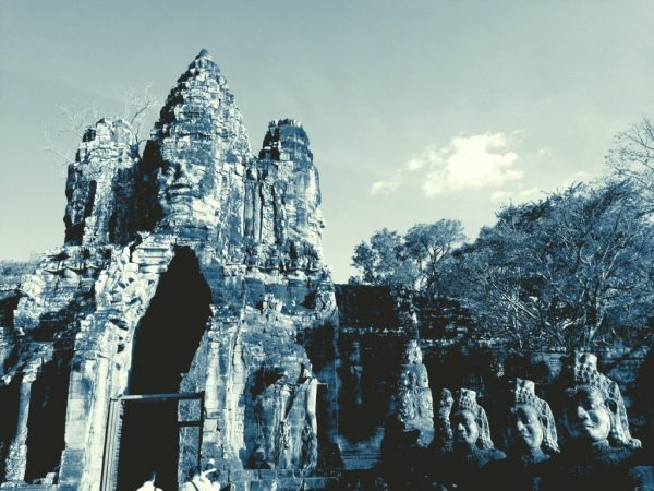 Entrance to Bayon in Angkor.