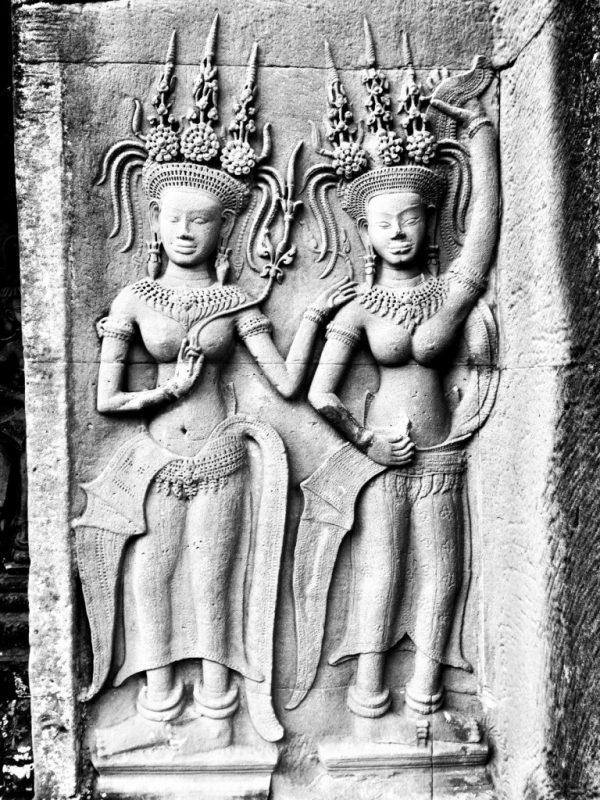 Devatas in Angkor Wat