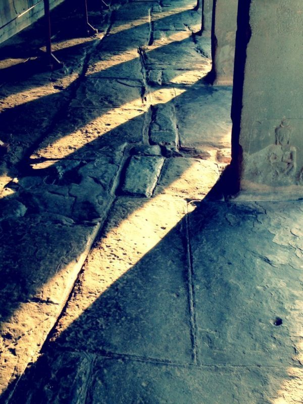Columns and Shadows at Angkor Wat