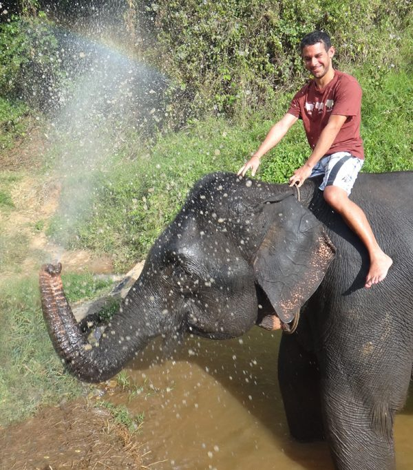 Me on Elephant in Chiang Mai, Thailand