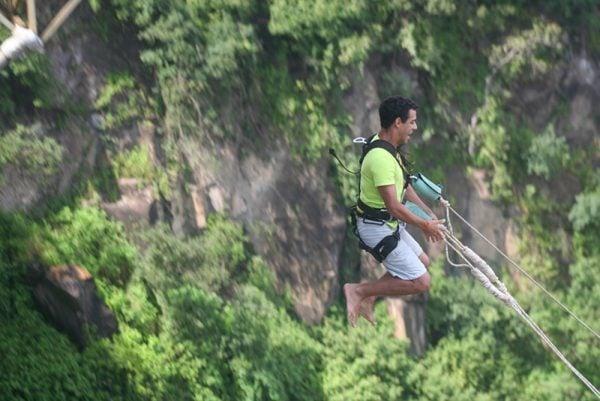 Swing at Victoria Falls