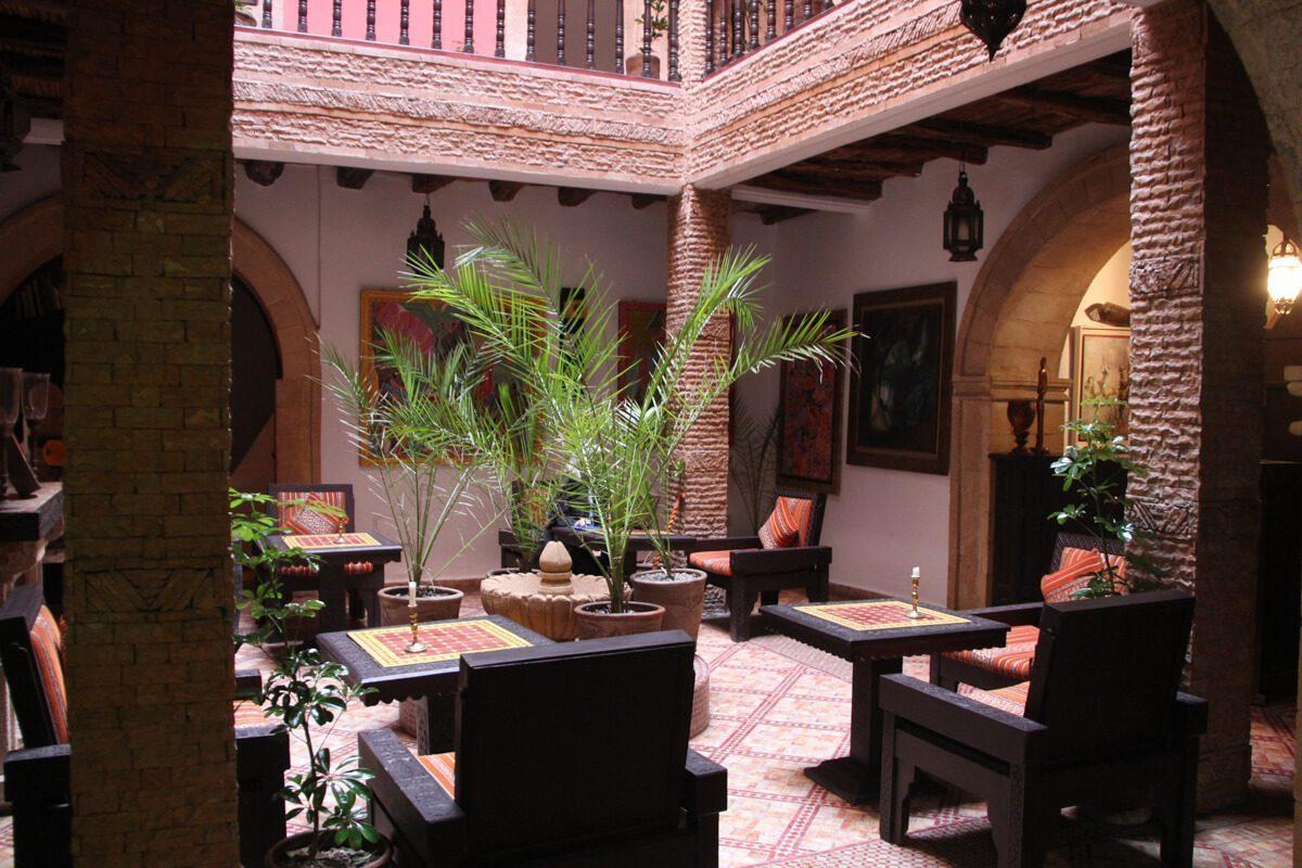 The Inner Courtyard at Maison du Sud, Essaouira