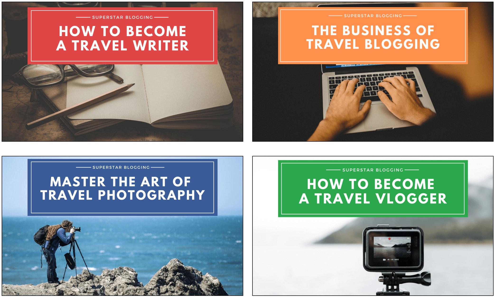 Superstar Blogging Courses list