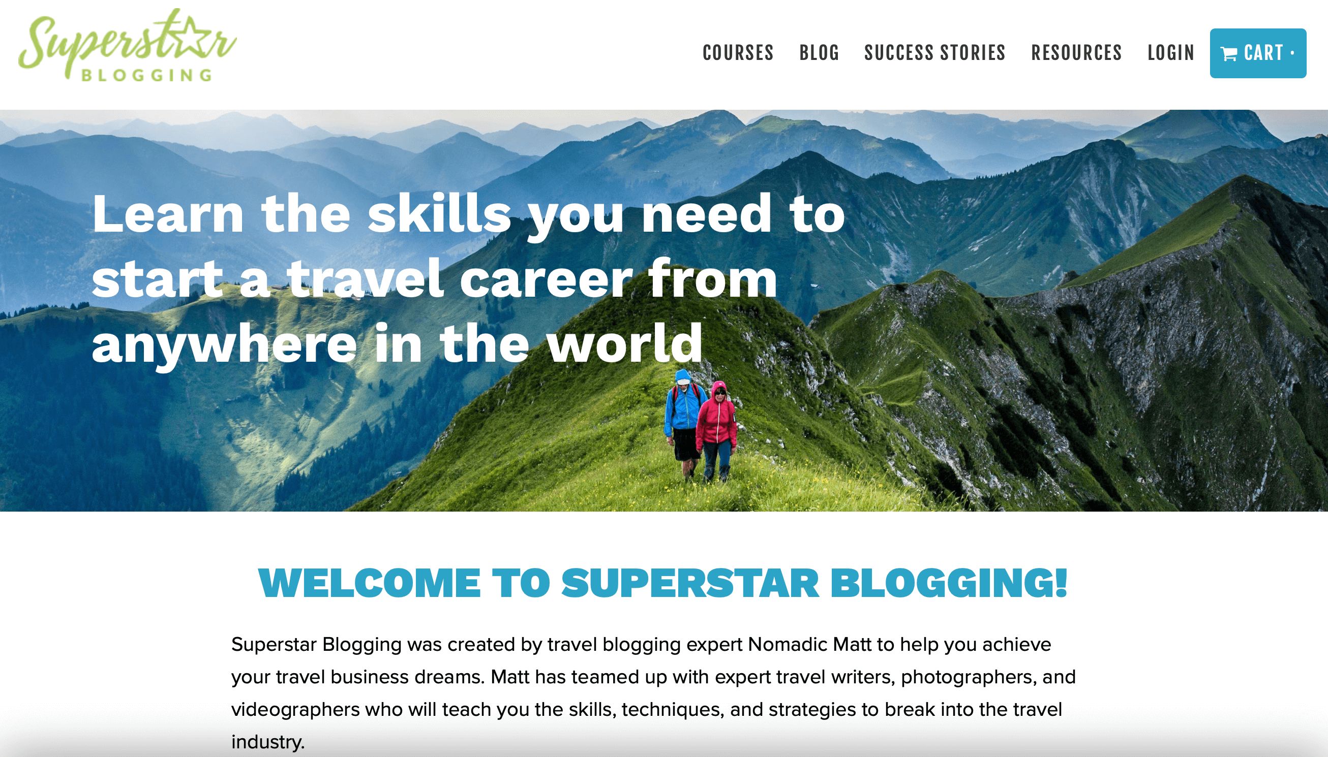 Nomadic Matt Superstar Blogging Homepage