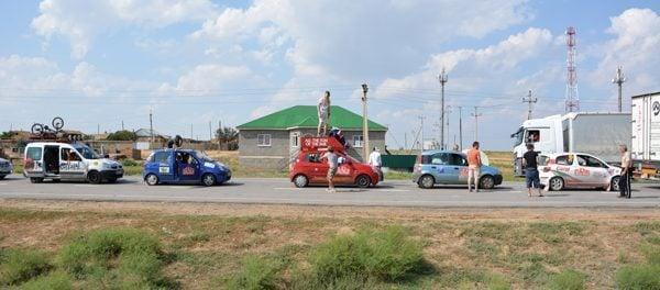 Crossing to Kazakhstan