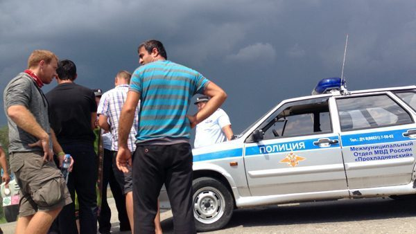 with the Russian Police