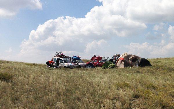 camping in Kazakhstan