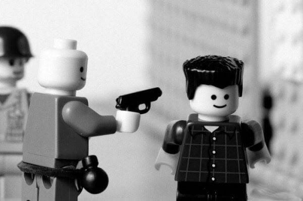 Lego with gun