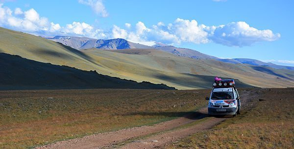 Driving in Mongolia