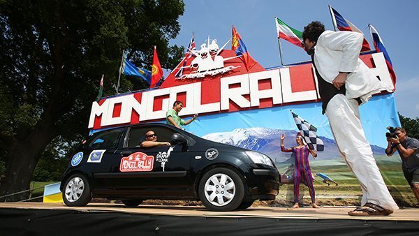 Start line of the Mongol Rally
