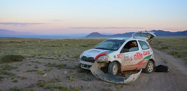 Shitting Thunder's car in Mongolia