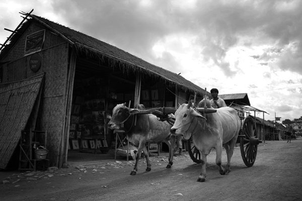 Carriage at Inle Lake in Myanmar