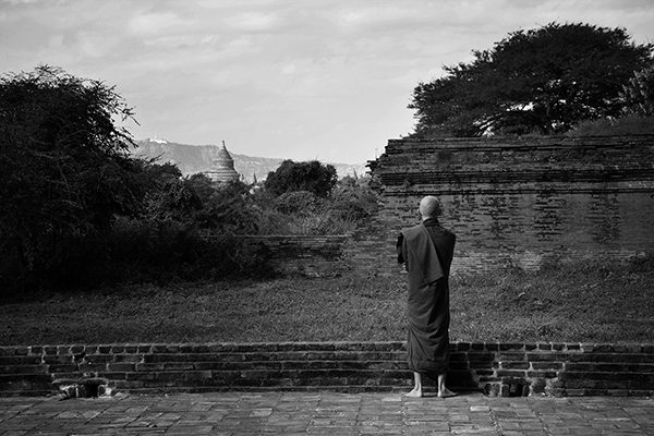 Monk at Dhammayangyi Temple in Bagan, Myanmar