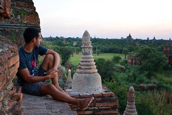 Watching the sunset in Bagan, Myanmar