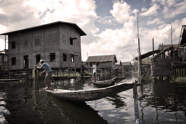 fisherman in Inle Lake in Myanmar