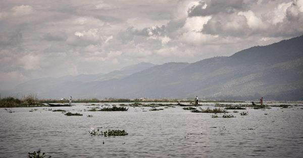 fishermen in Inle Lake in Myanmar