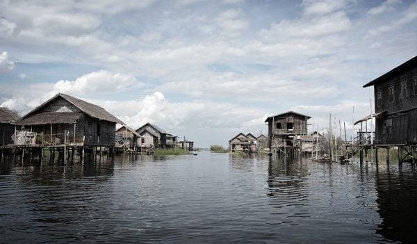 floating village in Inle Lake in Myanmar
