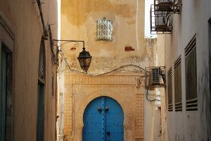 Alley in Tunis, Tunisia