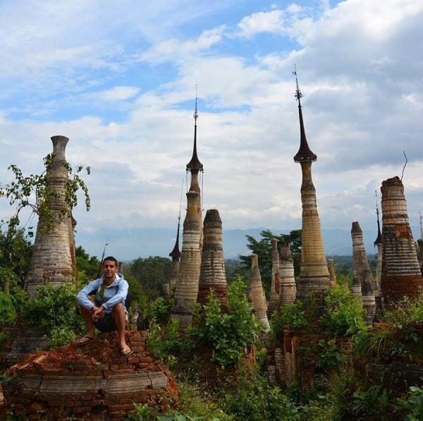 Norbert in Inle Lake in Myanmar