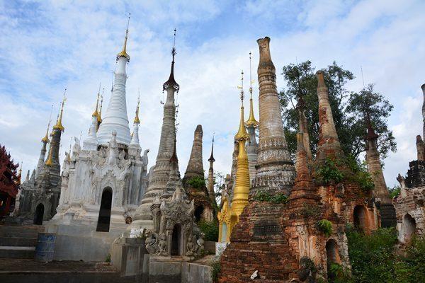 Shwe Inn Dain Pagoda in Inle Lake in Myanmar