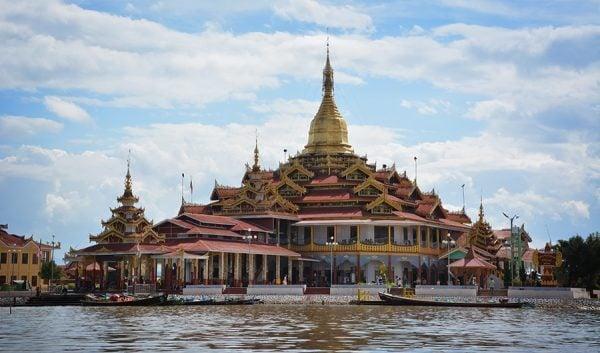 Temple in Inle Lake in Myanmar