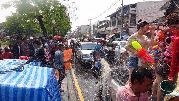 Songkran Water fight